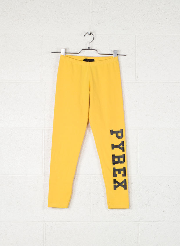 LEGGINGS BIG LOGO, GIALLO, large