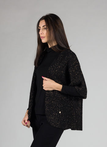 CARDIGAN LUREX, NERO, small