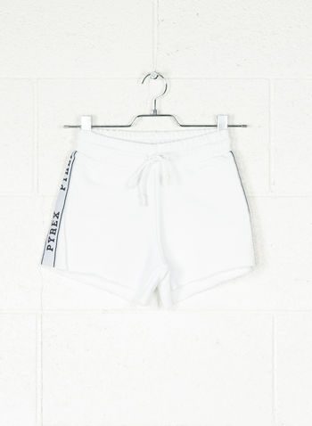 SHORT BANDA LUREX, BIANCO, small