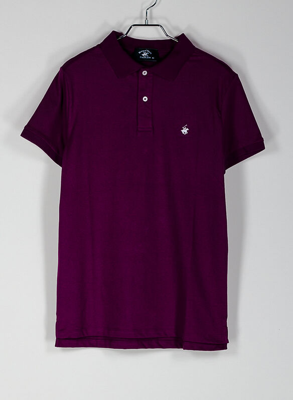 POLO PIQUET STRETCH, PLUM, medium