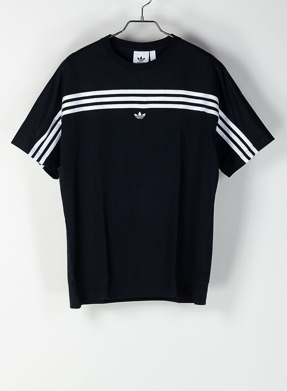 T-SHIRT 3-STRIPES, BLKWHT, medium