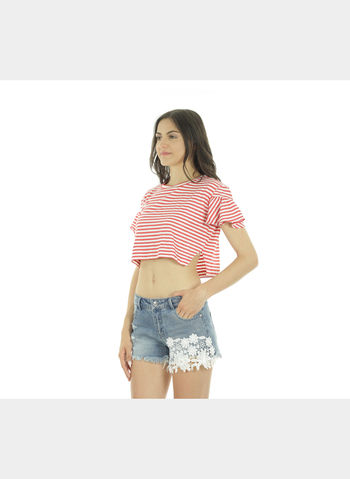 TOP SHINE FRILL CROP , , small