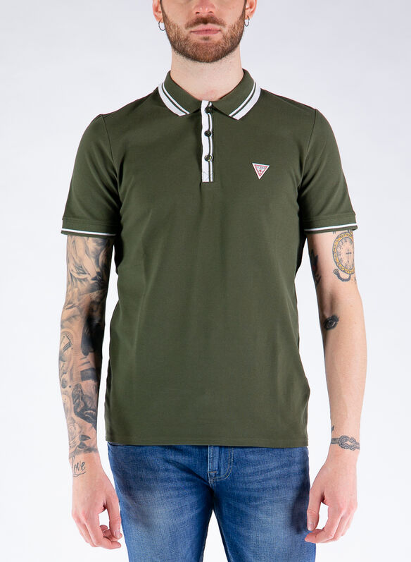 POLO LOGO TRIANGOLO, G8F6 OLIVE, medium