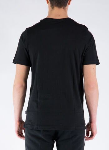 T-SHIRT BASIC CON LOGO, 01BLK, small