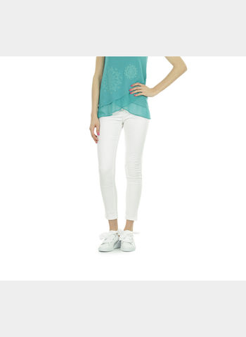 PANTALONE JEGGINGS, 0127WHT, small
