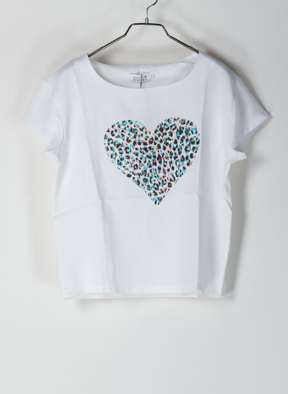 T-SHIRT LEOPARD HEART, WHTPASTEL, medium