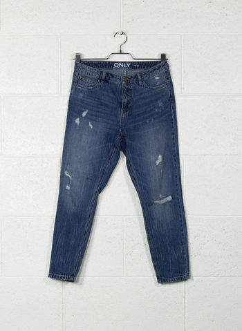JEANS TONNI DESTROYED BOYFRIEND, DARKDENIM, small