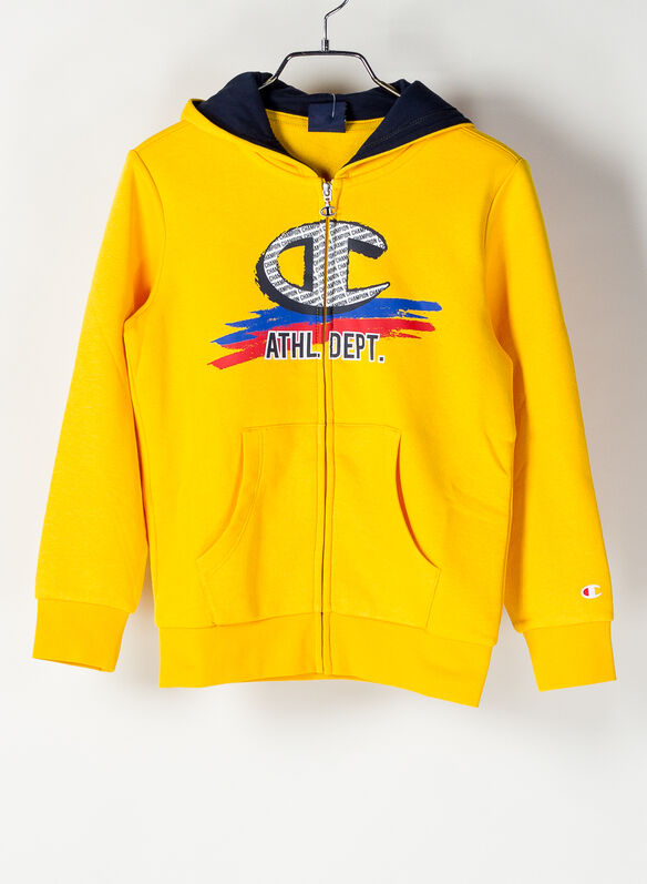 FELPA FULL ZIP STAMPA RAGAZZO, YS026YELLOW, medium
