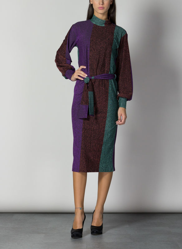 ABITO LUREX, VIOLA, medium