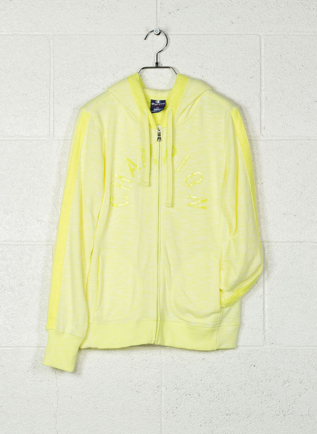 FELPA FLO FULL ZIP CAPP, YZ002YELLOW, large