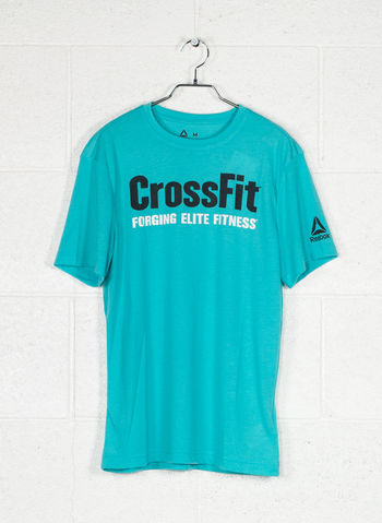 T-SHIRT REEBOK CROSSFIT SPEEDWICK F.E.F. GRAPHIC, TURCHESE, small