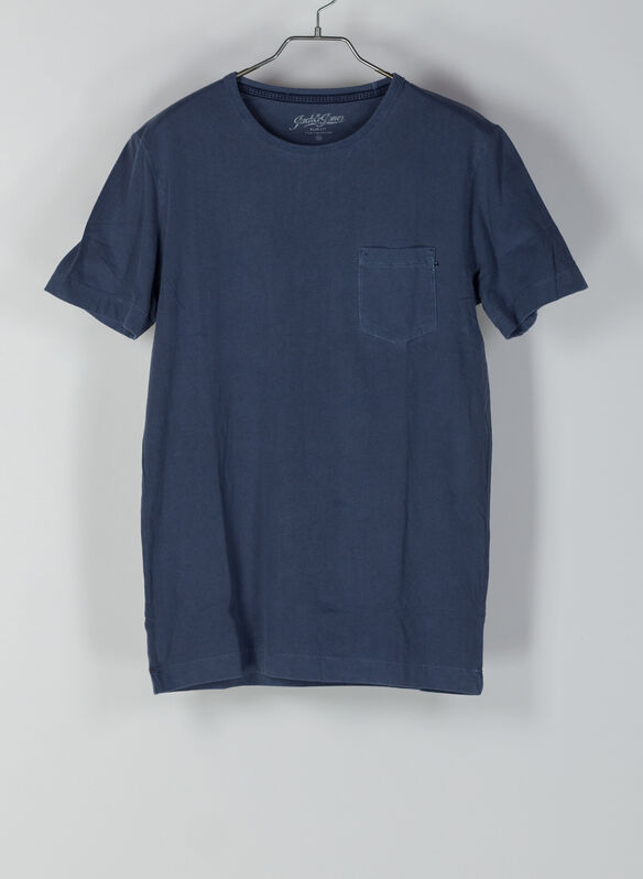 T-SHIRT WASH, NVY, medium