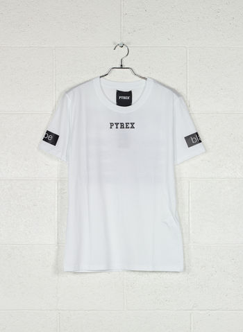 T-SHIRT LOGO POSTERIORE, BIANCO, small