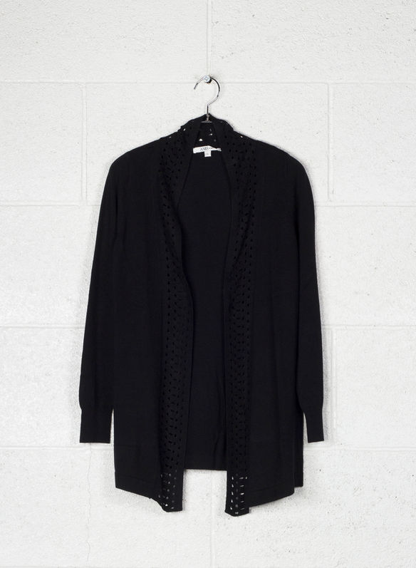 CARDIGAN APERTO, 99BLK, medium