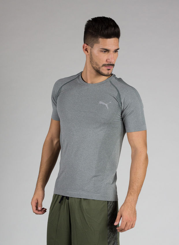 T-SHIRT ACTIVE MEN'S EVOKNIT BASIC , 003GREY, large
