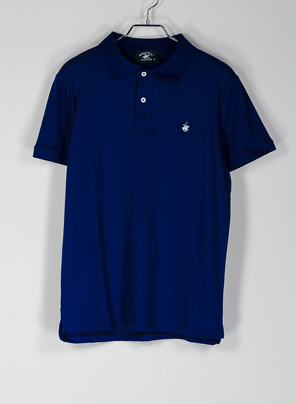 POLO PIQUET STRETCH, DENIM, medium