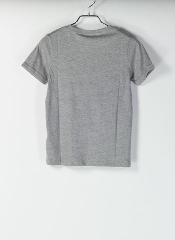 T-SHIRT VICTOR NEW YORK RAGAZZO, GREY, small
