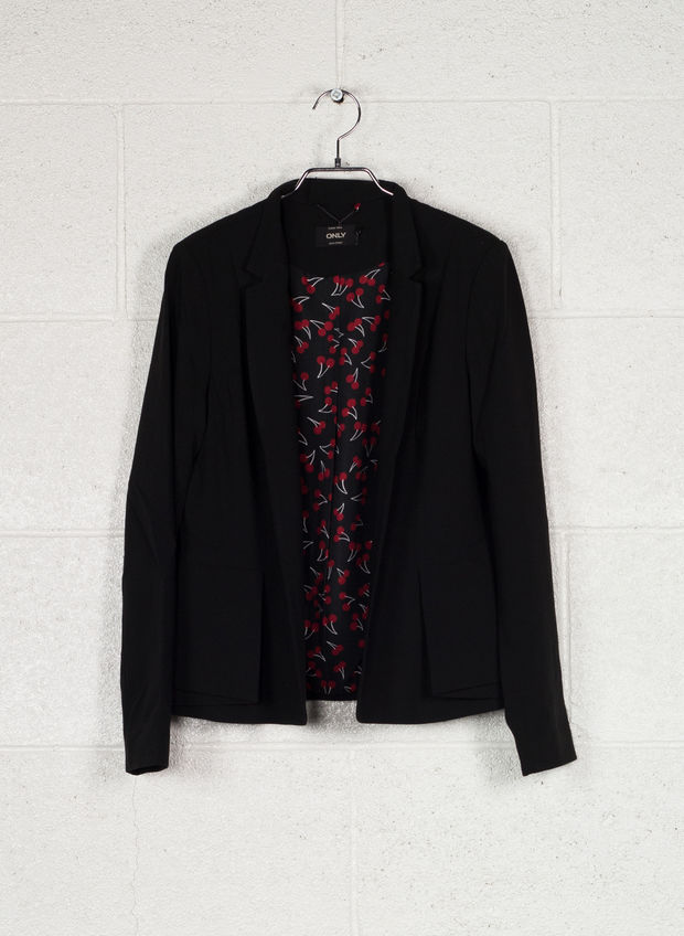 GIACCA BLAZER MICHELLE LISA, BLACK, large