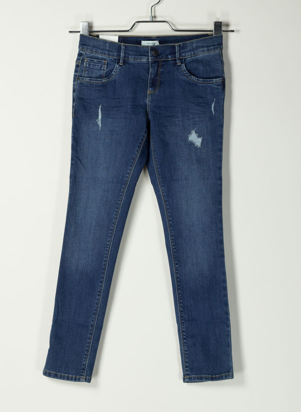 JEANS FROSE RAGAZZA, BLUE DENIM, large