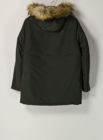PARKA CON CAPPUCCIO, 170ARMY GREEN, small