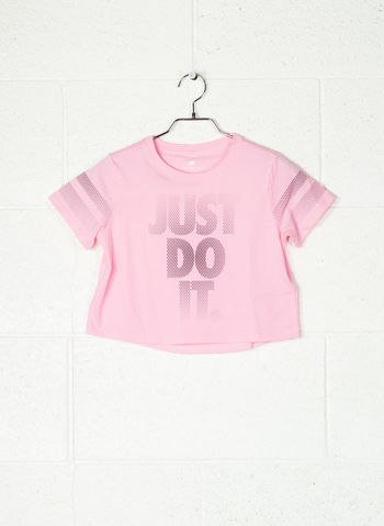 T-SHIRT S MC CROP JUST DO IT RAGAZZA, 654PINK, small