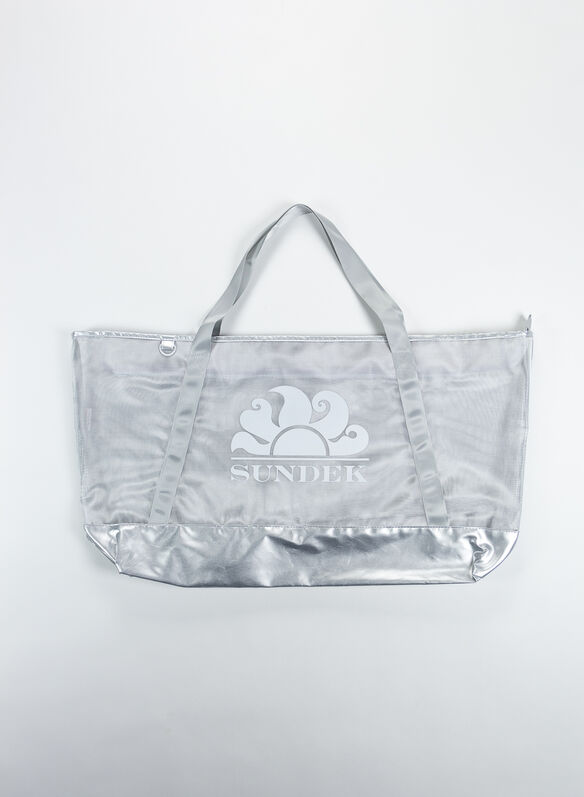 BORSA TALITA BEACH RETE, 083SILVER2, medium