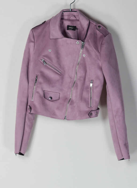GIACCA BIKER SHERRY CROP, LILAC, medium