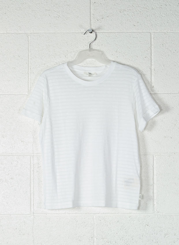 T-SHIRT STRIPE, 12WHT, large