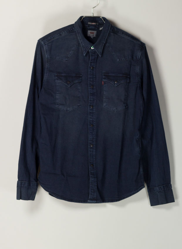 CAMICIA JEANS, 0325SCURO, large