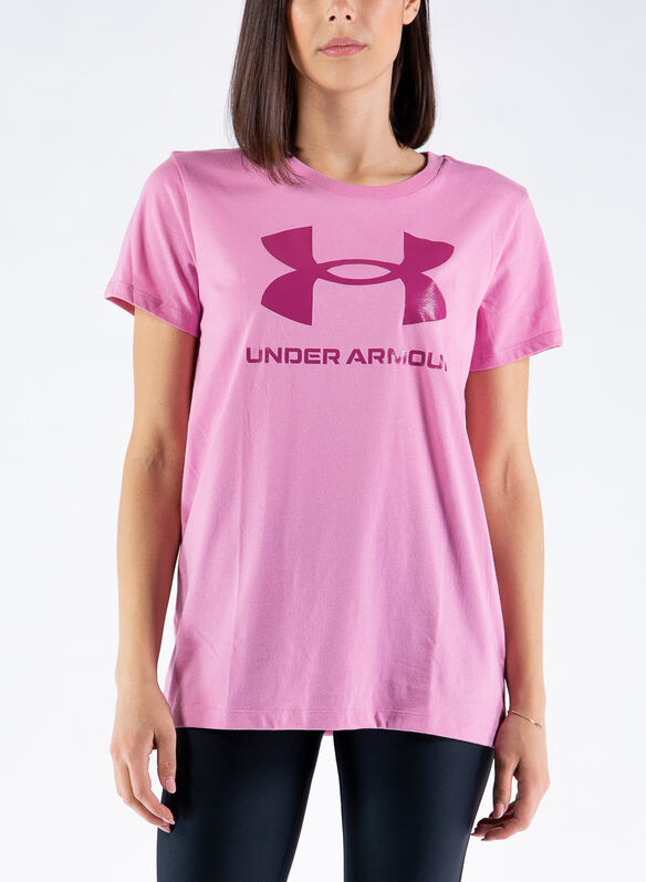 T-SHIRT SPORTSYLE GRAPHIC, PINK, medium