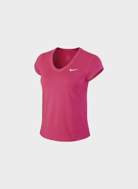 T-SHIRT DA TENNIS, 616FUXIA, medium