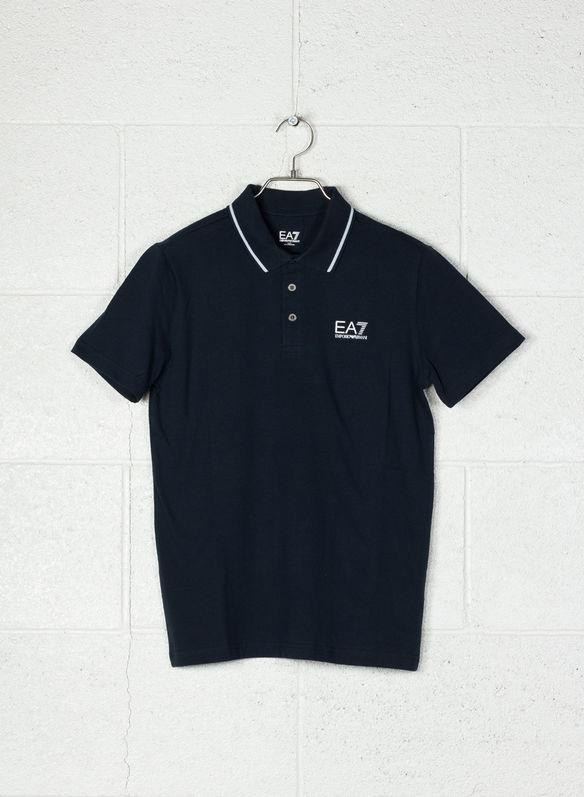 Ea7 Logo Polo Cotone 8054709337907 Xxl Stretch Jersey In Di Con 1578nvy 00wdrq7