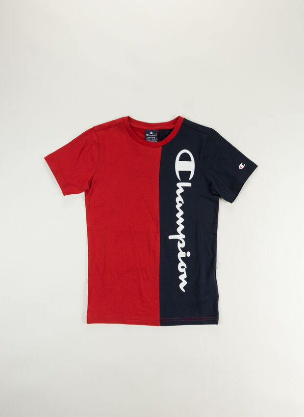 T-SHIRT COLOR BLOCK RAGAZZO, RS053REDNVY, large