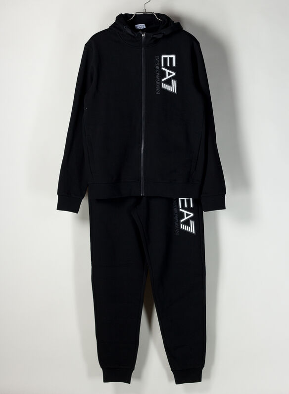 TUTA FULL ZIP BIG LOGO, 0200BLK, medium