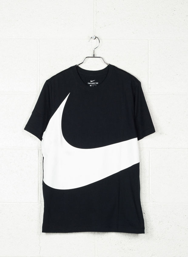 T-SHIRT CORE SWOOSH, 010BLKWHT, large