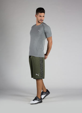 T-SHIRT ACTIVE MEN'S EVOKNIT BASIC , 003GREY, small