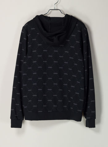 HOODIE LINEAR GRAPHIC, BLK, small
