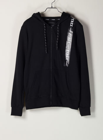 FELPA FULL ZIP, NERO, small