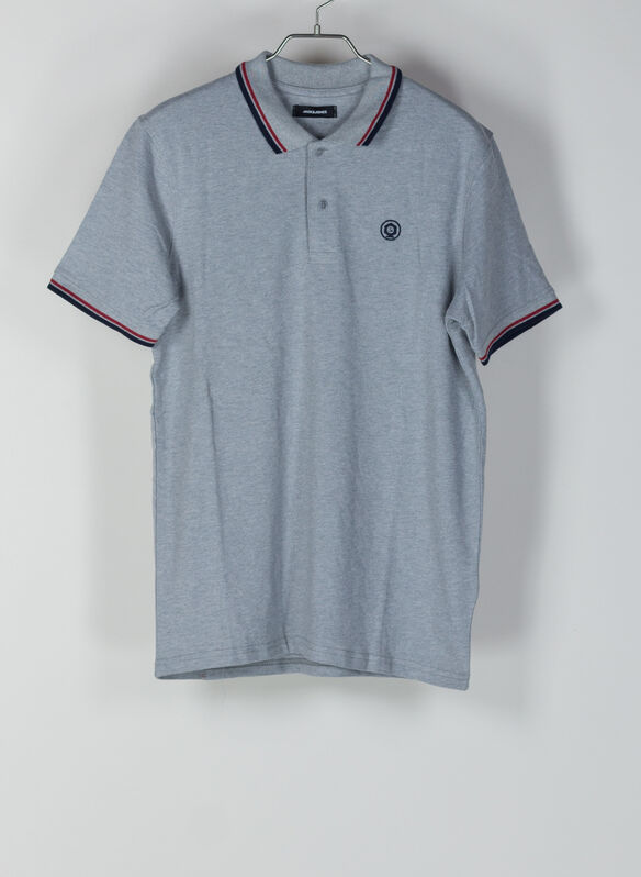 POLO NOAH PIQUET BORDINO, GREY, medium