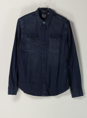 CAMICIA BARSTOW WESTERN SHIRT, 0325SCURO, small
