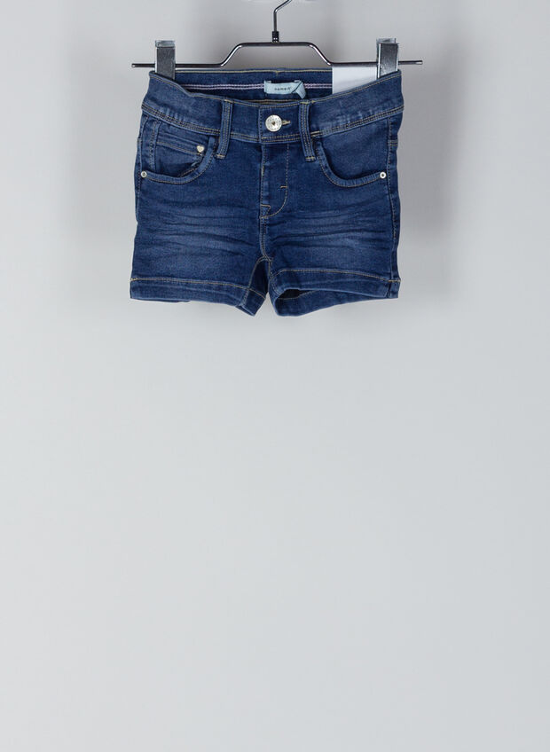 SHORTS DENIM SALLI BAMBINA, MEDIUM BLUE, large