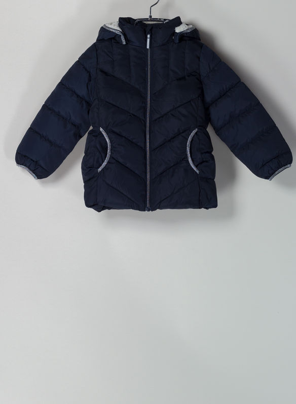 GIUBBOTTO PUFFER CON FODERA TEDDY BAMBINA, DARK, medium