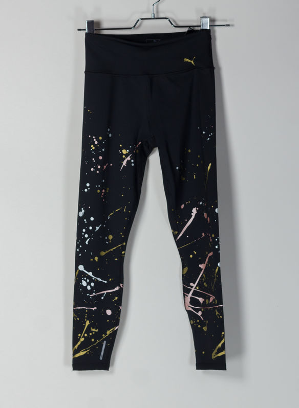 LEGGINGS TRAINING METAL SPLASH SPLATTER, 01BLK, medium