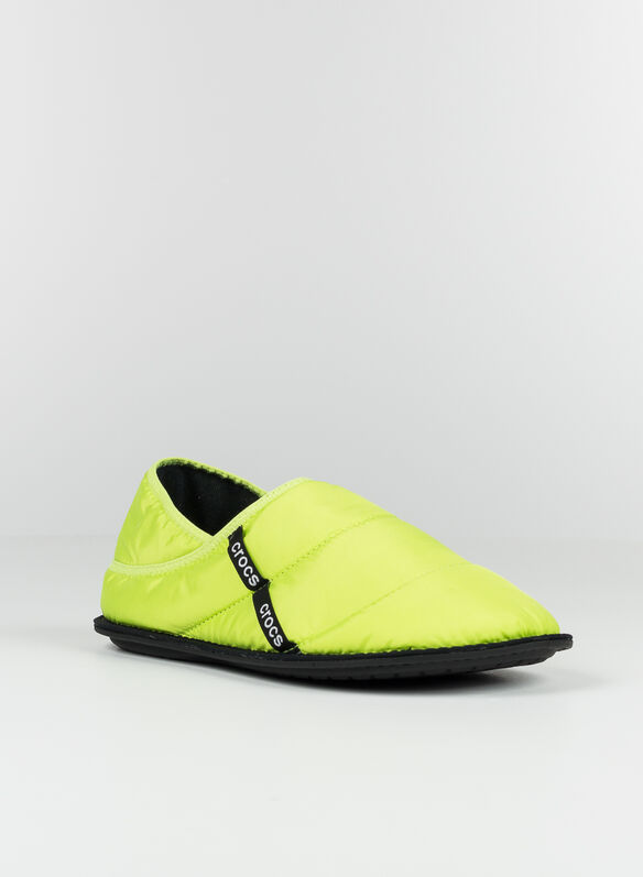 SABOT PUFF SLIPPER, LIPU LIME, medium