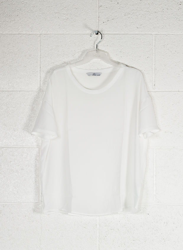 BLUSA MC LIGHT, BIANCO, large