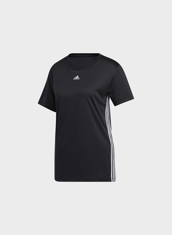 T.SHIRT TRAINING 3-STRIPES, BLK, medium