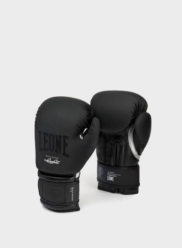 GUANTO BOXE BLACK&WHITE, BLK, medium