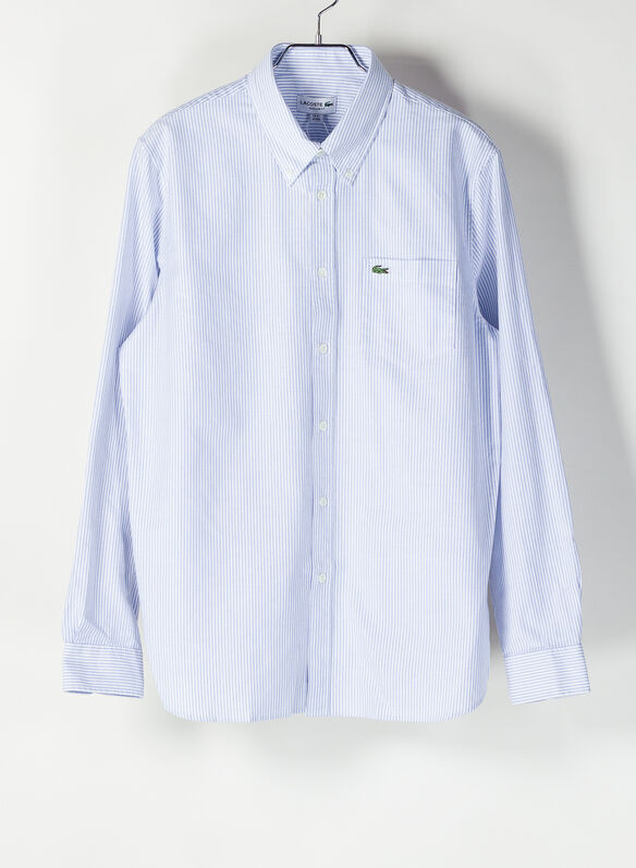 CAMICIA OXFORD BACCHETTATA, F6ZCELWHT, medium