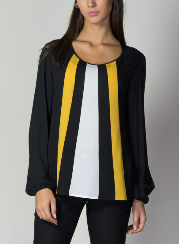 BLUSA A RIGHE, NEROSENAPE, medium
