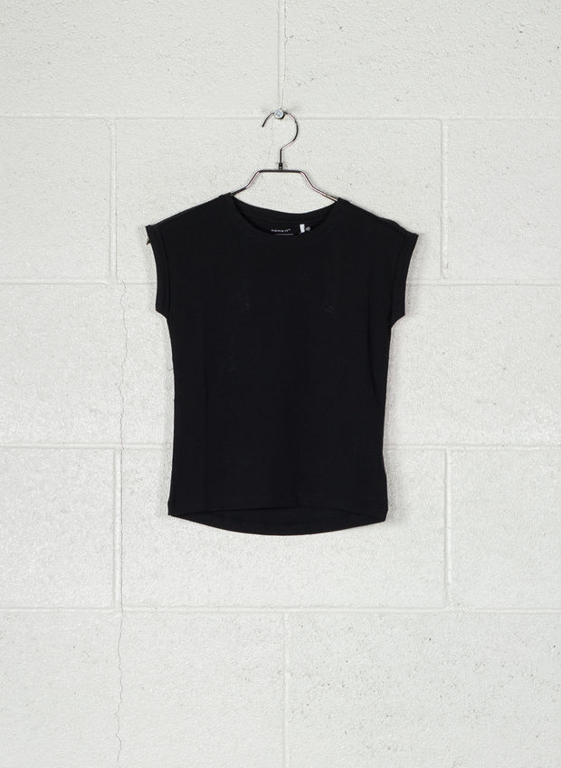 T-SHIRT BASIC RAGAZZA, BLK, large